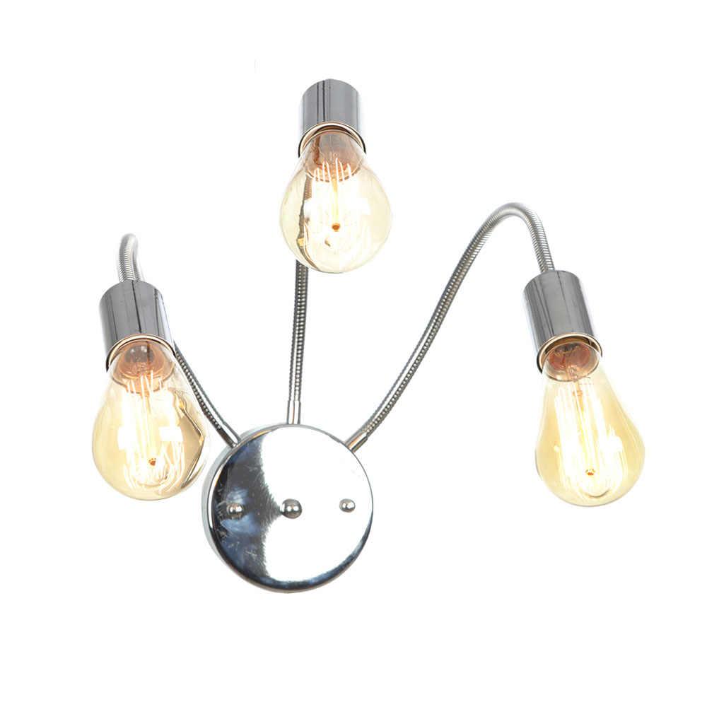 Шланг «сделай сам» настенный светильник светодиодный Эдисон современный бра, настенные светильники 3 головы спальни прикроватный свет для чтения стены домашнего освещения железный светильник
