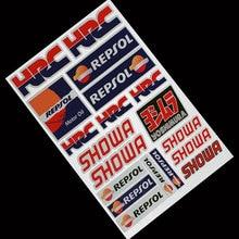 Whole SET Reflective Helmet Motorcycle Tank Decals Stickers for Honda HRC CBR CBR1000RR CBR650F CBR600RR CBR500R CBR300R CBR250R
