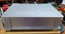 1PCS Silver Full Aluminum Audio Amplifier Chassis/ Preamp Enclosure/ Tube Amp Box/ DAC Case Size 326*82*245mm AP55