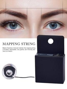 1/2/5/10 Pcs Mapping Pre-ink String For Eyebow Make Up Dyeing Liners Thread Semi Permanent Positioning Eyebrow Measuring Tool