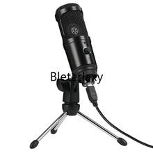 USB kondenser mikrofon Mac dizüstü ve bilgisayarlar kayıt akış Twitch ses aşırı Podcasting için Youtube Skype
