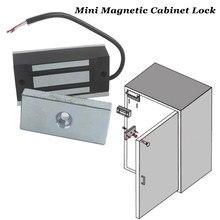 DC12V 24V Mini zamek magnetyczny elektryczny zamek do szafki zamek elektromagnetyczny zamek magnetyczny szafki Maglocks Fail safe 60kg EM blokada