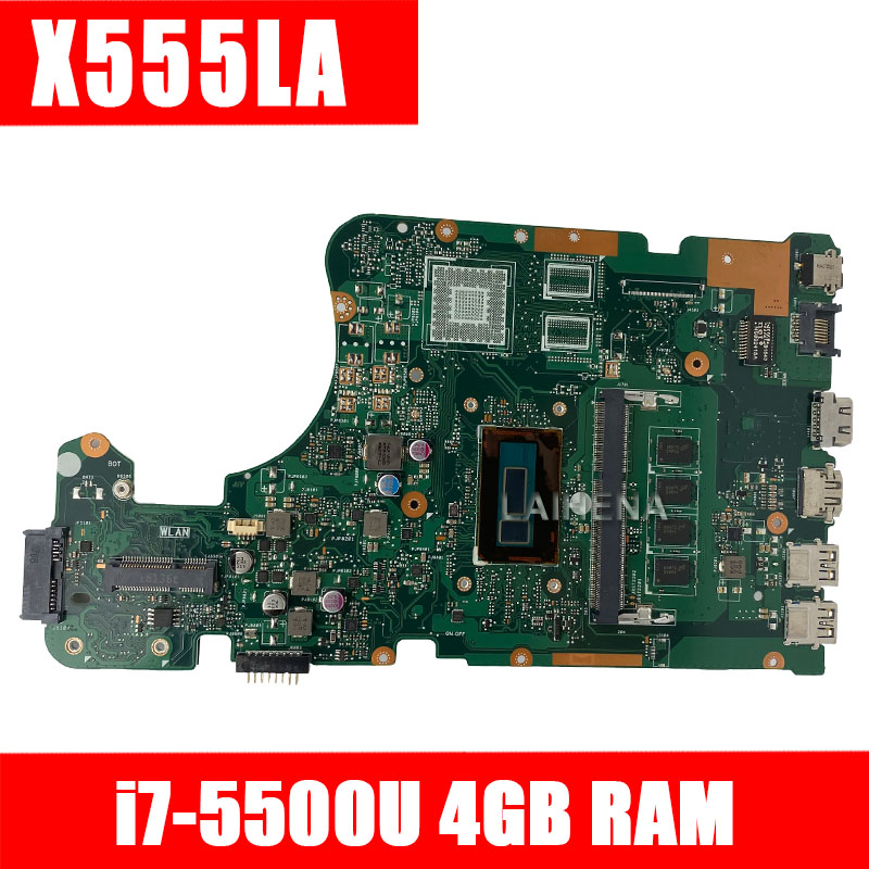 X555LA Motherboard Rev2.0/3.1 I7-5500 Cpu For ASUS X555LD X555LA Laptop Motherboard X555LA Mainboard X555LA Motherboard Test  OK