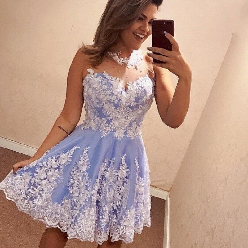 Cocktail Homecoming Dresses Short Prom Evening Formal Dress Long Party Gown 2019 Vestido Longo Festa Robe De Soiree