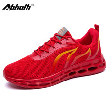 Abhoth Men Casual Shoes Light Men's Sneakers Breathable Mesh Field Training Flame Pattern Shoes Outdoor Walking Male Men's Shoes