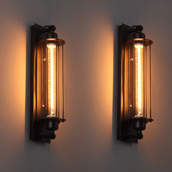 American retro LED E27 Industrial style decoration wall light bedside foyer study balcony aisle Coffee shop restaurant wall lamp loft retro industrial wind led fixture american country vintage study office bedroom aisle bronze color wall lamp free shipping