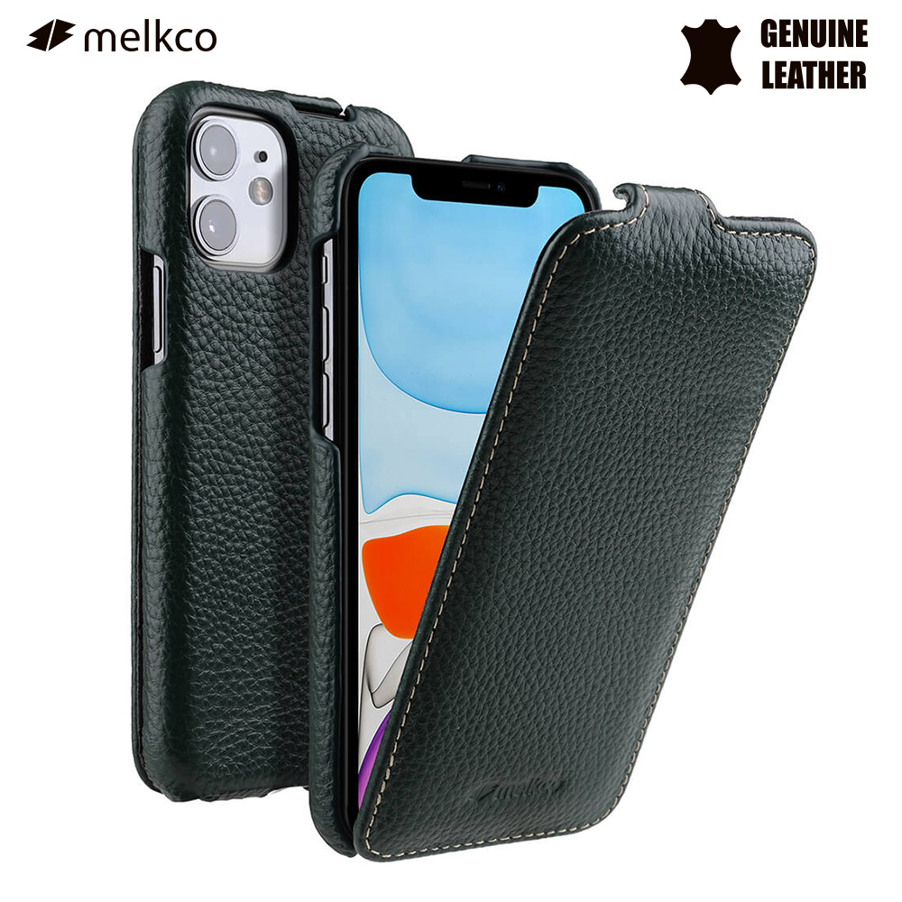 Melkco Case for iPhone 11 Pro X XS XR Max Luxury Genuine Leather Flip Cases Handmade Folio Leather Cover for iPhone 11 image