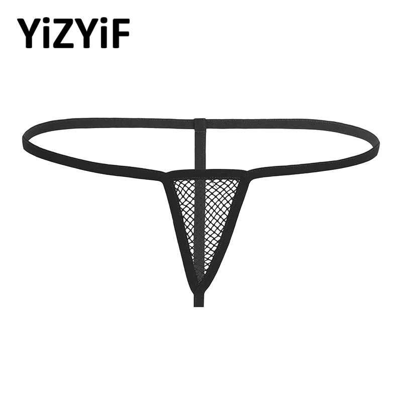 Vrouwen Badmode G-string Bikini Slips Sexy Lingerie Ondergoed Rekbaar Visnet Open Butt Low-taille Dame Onderbroek Slipje