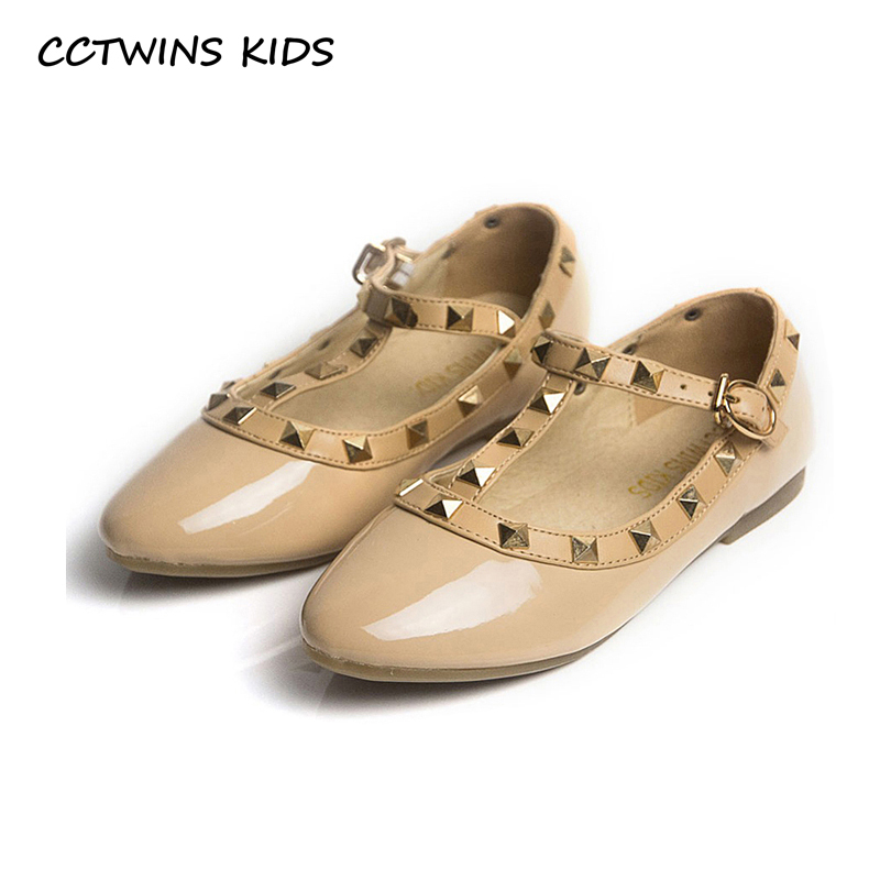 CCTWINS KIDS spring girls brand for baby stud shoes children nude sandal toddler summer shoe black white flats party shoe G358 1