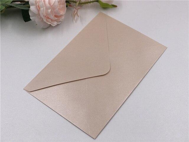 4X perłowy papier koperty na zaproszenia koperta prezentowa kwadratowa prostokątna kartka z życzeniami koperta RSVP kość słoniowa bordowy rumieniec granatowy