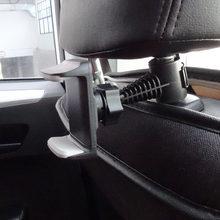 Banco de trás do carro encosto de cabeça suporte do telefone suporte de montagem para o telefone do carro do telefone traseiro encosto de cabeça 360 graus universal telefone clipe suporte