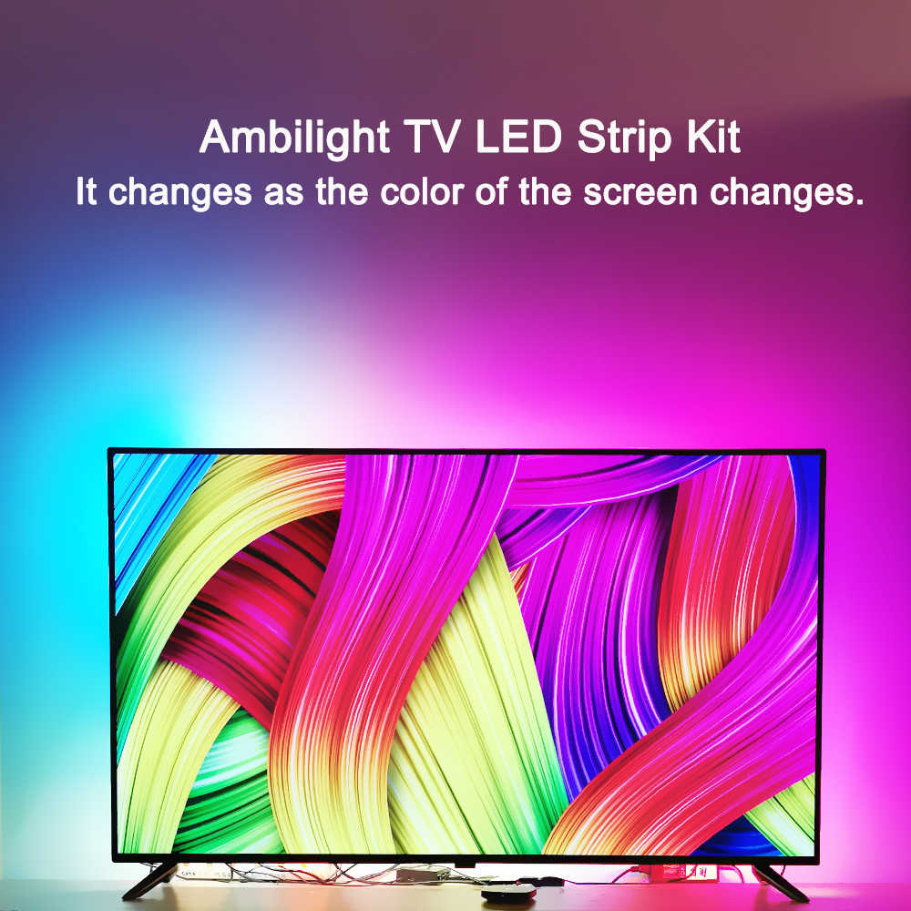 Retroiluminación LED de TV luz ambiental a 4K 1080P TV LED efecto Ambilight para TV fuentes HDMI para 40-80 pulgadas HDTV Led tira de luces Kit