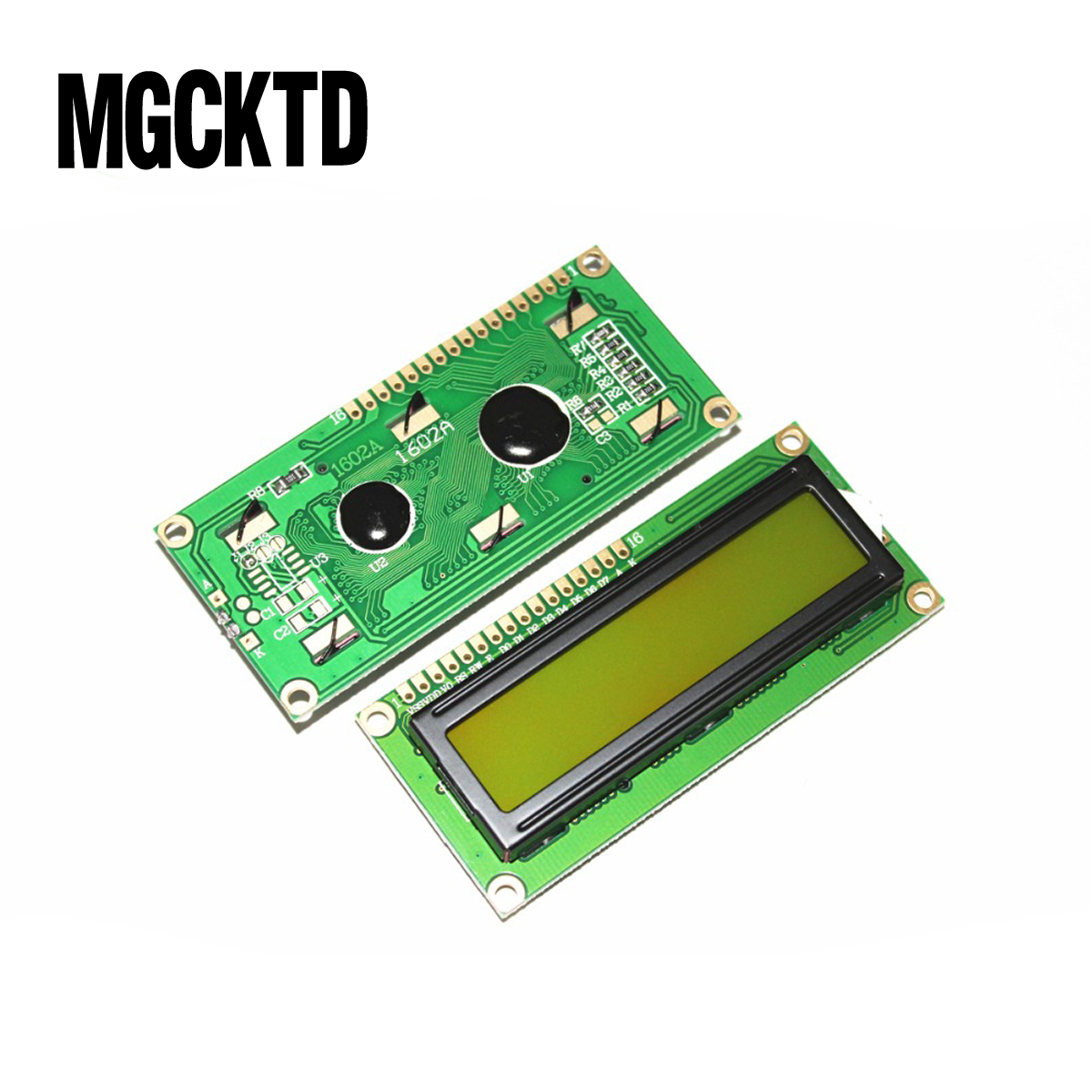 10PCS LCD1602 module green screen <font><b>16x2</b></font> Character <font><b>LCD</b></font> <font><b>Display</b></font> Module.green screen and white code image