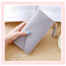 Long Wallet Women Purses Tassel Fashion Coin Purse Card Holder Wallets Female High Quality Clutch Money Bag PU Leather Wallet new fashion women wallet crocodile pattern high quality purse for female coin purses money card holders ladies buckle purses y3