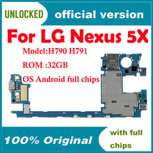 100% Unlocked Original Motherboard For LG Nexus 5X H790 H791 4G Support Mainboard For Android OS Logic Board With Full Chips(China)