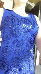 Image 4 - זול סקסי למעלה Elegent אישה מסיבת גבוהה באיכות רקמת קיץ נצנצים קצר שחור בז קוקטייל שמלת Coctail Vestido Coctel