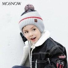 Chapeau tricoté en coton pour garçon et fille, bonnet chaud de marque, avec pompon solide, à la mode, printemps-automne, Bonne qualité