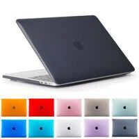 Cristal dur ordinateur portable étui pour Macbook AIR Retina 11 12 pouces avec couverture de barre tactile pour Macbook nouveau Pro 13 15.4 coque A2159 A1932 ID