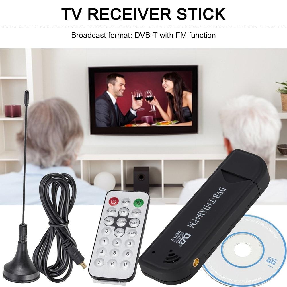 DVB-T DAB FM USB 2,0 Stick цифровой ТВ антенна Приемник SDR видео донгл
