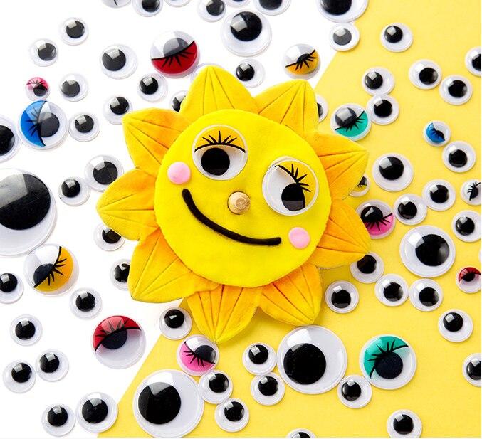 100 шт/200 шт Самоклеющиеся Googly бегающие глазки для поделок, скрапбукинга проекты детали для самостоятельной сборки кукол глаза игрушки ручной работы GYH
