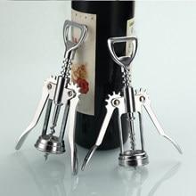 Butelka ze stali nierdzewnej korkociąg otwieracze metalowy czerwony korkociąg do wina uchwyt na butelkę otwieracz korkociąg akcesoria kuchenne