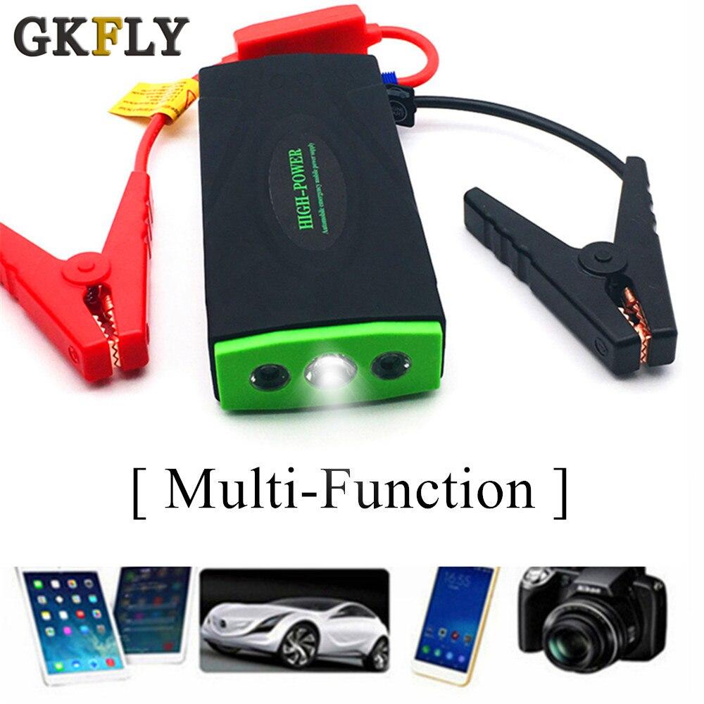 GKFLY супер Мощность стартер перемычка 600A Мощность переносной Аккумуляторный усилитель Зарядное устройство 12V пусковое устройство бензин ди