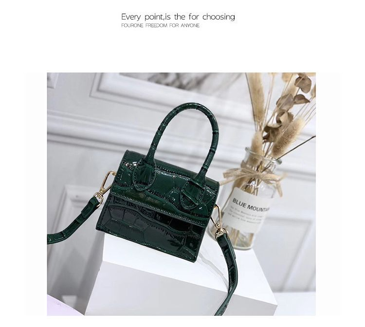 Ha0b987bba2e343f9b37cf6ce9cb76e1bl - Mini Small Square bag Fashion New Quality PU Leather Women's Handbag Crocodile pattern Chain Shoulder Messenger Bags