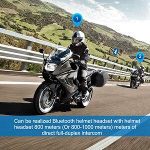 Image 3 - Fodsports 2 pcs BT S3 אופנוע קסדת אינטרקום Moto קסדת Bluetooth אוזניות עמיד למים Intercomunicador BT האינטרפון FM