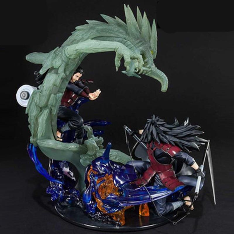 Naruto Uchiha Madara flamme Senju Hashirama bois Dragon Susanoo PVC Statue figurine jouet X2444
