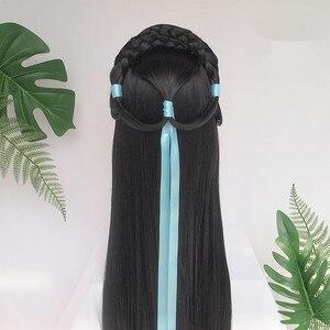 90cm schöne prinzessin trau haar produkte mit band für frauen halloween karneval headwear hanfu zubehör club haar tragen