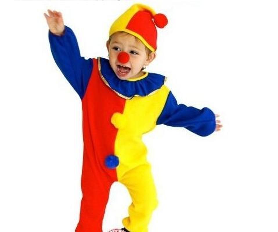 June 1 Kids Performance Clown Clothing Cosplay Anime Clothing Clown Suit Kindergarten 3Pcs Halloween Joker Costumes Suit
