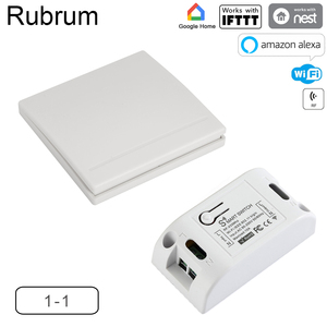 Image 1 - Rubrum WiFi 스위치 RF 433MHz 10A/2200W 타이머 무선 푸시 스위치 86 Tuya Google 홈 용 ON/Off 스위치 패널 Amazon Alexa Light