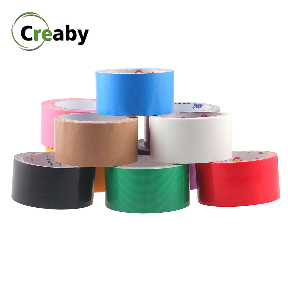 DIY Deco Multicolor Strong Waterproof Gaffer Cloth Duct Tape Sticky Adhesive Cloth Duct Tape Roll Craft Repair Carpet Tape 10M