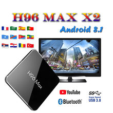 H96 MAX X2 tv box brasil android tv boxing H.265 USB3.0 Bluetooth smart console Amlogic S905X2 4GB 32GB 64GB media Player we furniture 44 wood tv media stand storage console driftwood