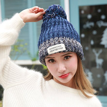 Wholesale Lady Winter new Hat Women Warmer cute hat Ribbed Knitted Cuffed Short Solid Ladies Casual cap Color Beanie