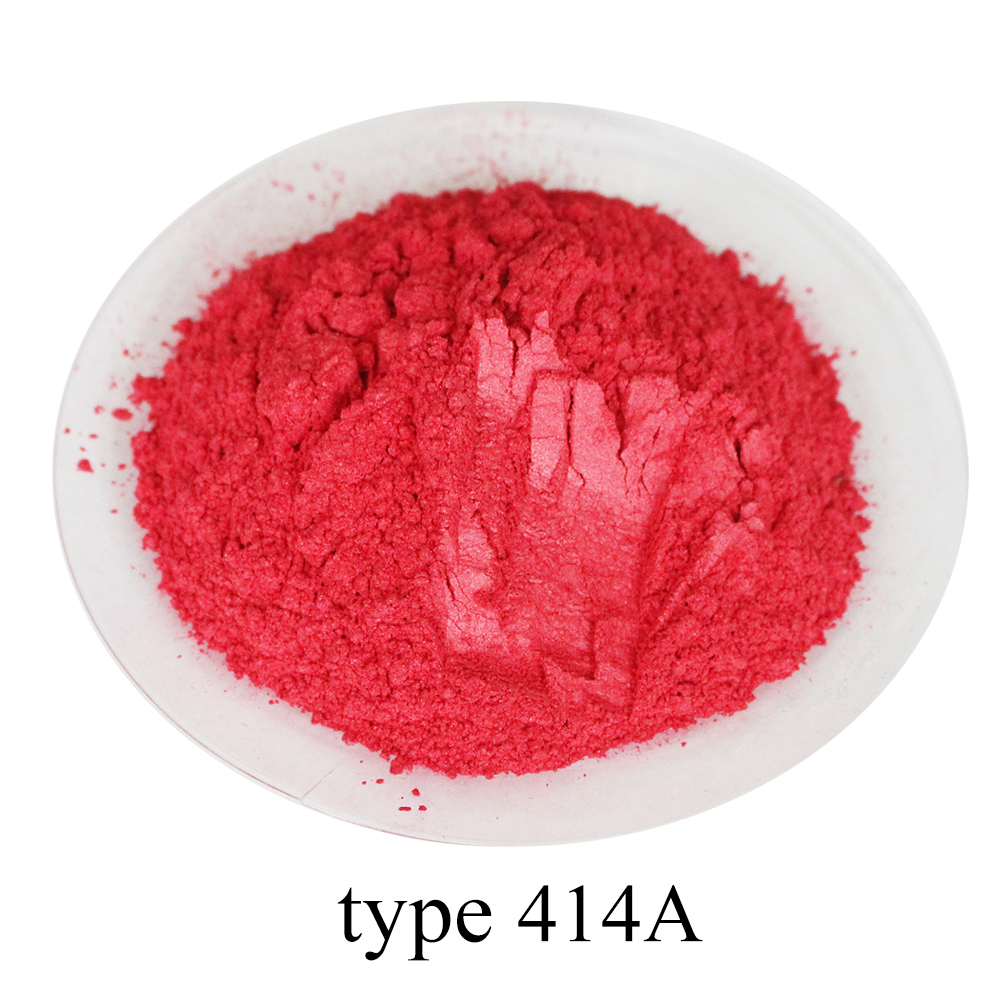 50g Type 414A Deep Red Pearl Powder Acrylic Paint For Crafts Arts Car Paint Soap Eye Shadow Dye Colorant Mica Powder Pigment