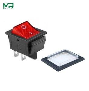 Image 3 - KCD4 кулисный переключатель ВКЛ ВЫКЛ 2 положения 4 контакта/6 контактов электрическое оборудование с светильник выключатель питания колпачок 16A 250VAC/ 20A 125V