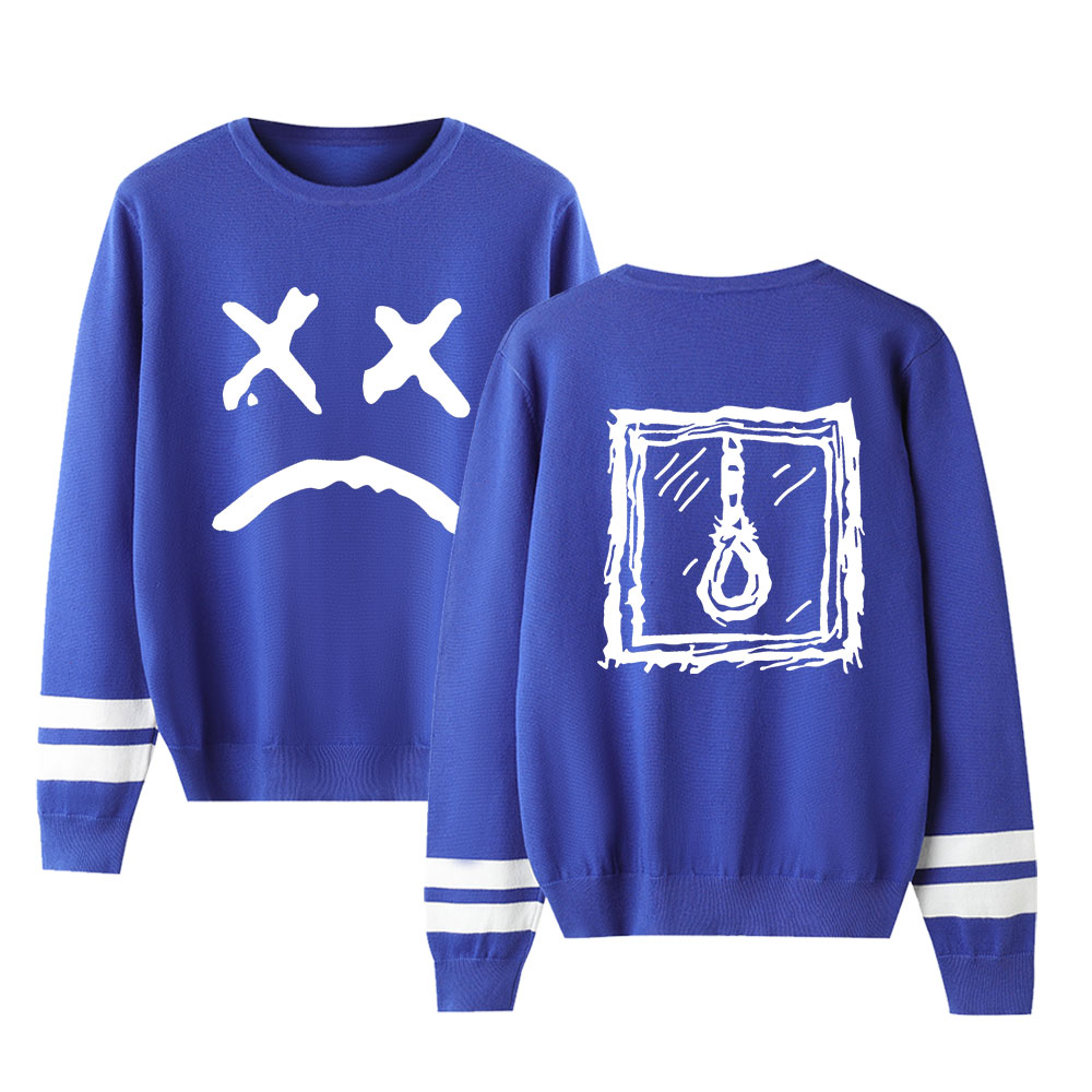 Fashion Autumn Sweaters Lil Peep Hip Hop O-Neck Suitable Spring Pullovers Men Women Sweaters Male Female Blue Comfortable Tops