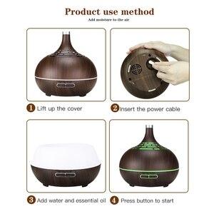 Image 5 - Umidificador de ar ultrasônico de 400ml, com aplicativo, controle de névoa, difusor de aroma, óleo essencial, luz noturna de led, escritório em casa