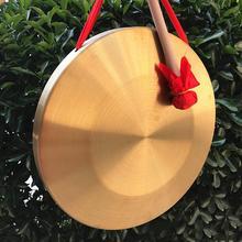 """15,5 см/"""" латунные инструменты ручной медные тарелки Opera Gongs с круглыми играми Молоток детские музыкальные игрушки быстрая"""