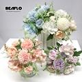 1 букет искусственных цветов 7 отделений пионный чай роза цветок шелковые искусственные цветы для гостиной домашний сад свадебные украшени...