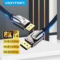 Vention порт дисплея 1,4 кабель 8K @ 60Hz высокоскоростной 32,4 Гбит/с порт дисплея кабель для видео ПК ноутбука DP 1,4 порт дисплея 1,2 кабель