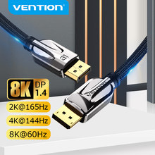 Vention-Cable de DisplayPort 1,4 de alta velocidad, 8K @ 60Hz, 32,4 Gbps, puerto de visualización para vídeo, PC, portátil, DP 1,4, 1,2