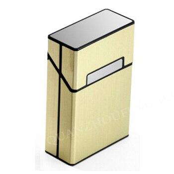 Μοντέρνα Ανδρική Αυτόματη Μεταλλική Θήκη για 10 Τσιγάρα με Θέση για Αναπτήρα Ανδρικό Μεταλλικό Σετ Καπνίσματος