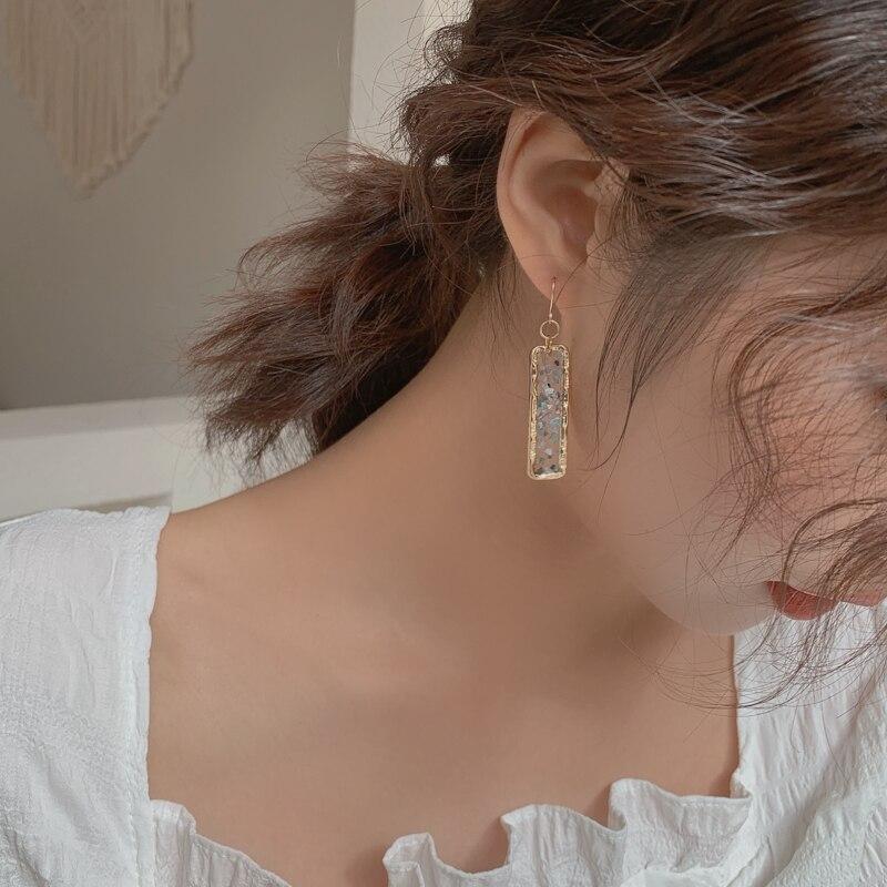 Blue Geometric Earrings 3