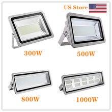 2pcs 500W/800W/1000W 110V LED Flood Light Floodlight Spotlight Waterproof Outdoor Lamp Coldwhite for GardenStreet