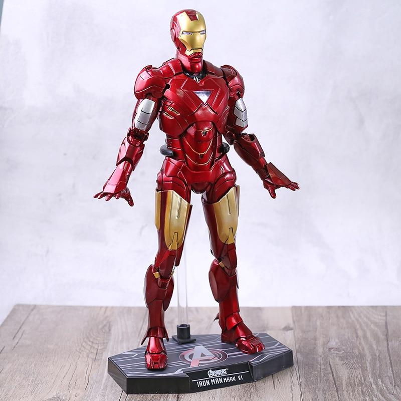 Iron Man Avengers Infinity War Ironman Mark 171 Anime figurine jouet poupée pour enfants cadeau avec lumière LED