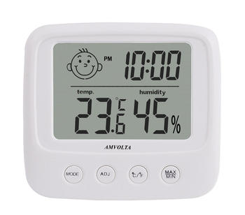 Amvolta LCD Digital Temperature Humidity Meter Backlight Home Indoor Electronic Hygrometer Thermometer Weather Station Baby Room 2