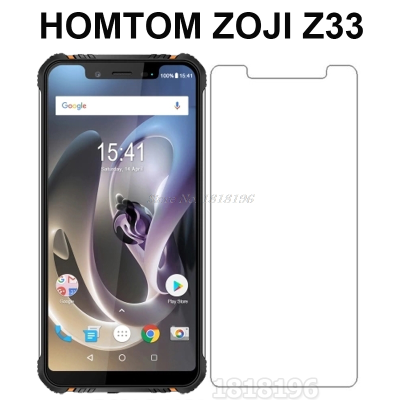 HOMTOM ZOJI Z33 Tempered Glass For HOMTOM ZOJI Z33 Screen Protector 9H Front Protective Film for HOMTOM ZOJI Z33 IP68 Case Glass image