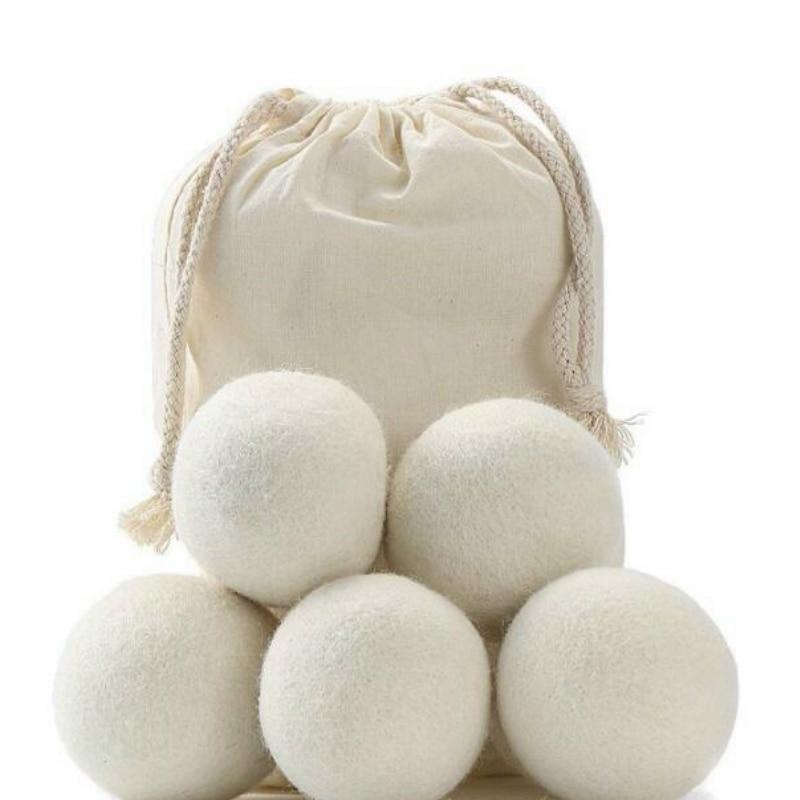 6pcs/lot 2cm/3cm Natural Wool Dryer Balls Fabric Virgin Reusable Softener Laundry 6-Pack BBB0365
